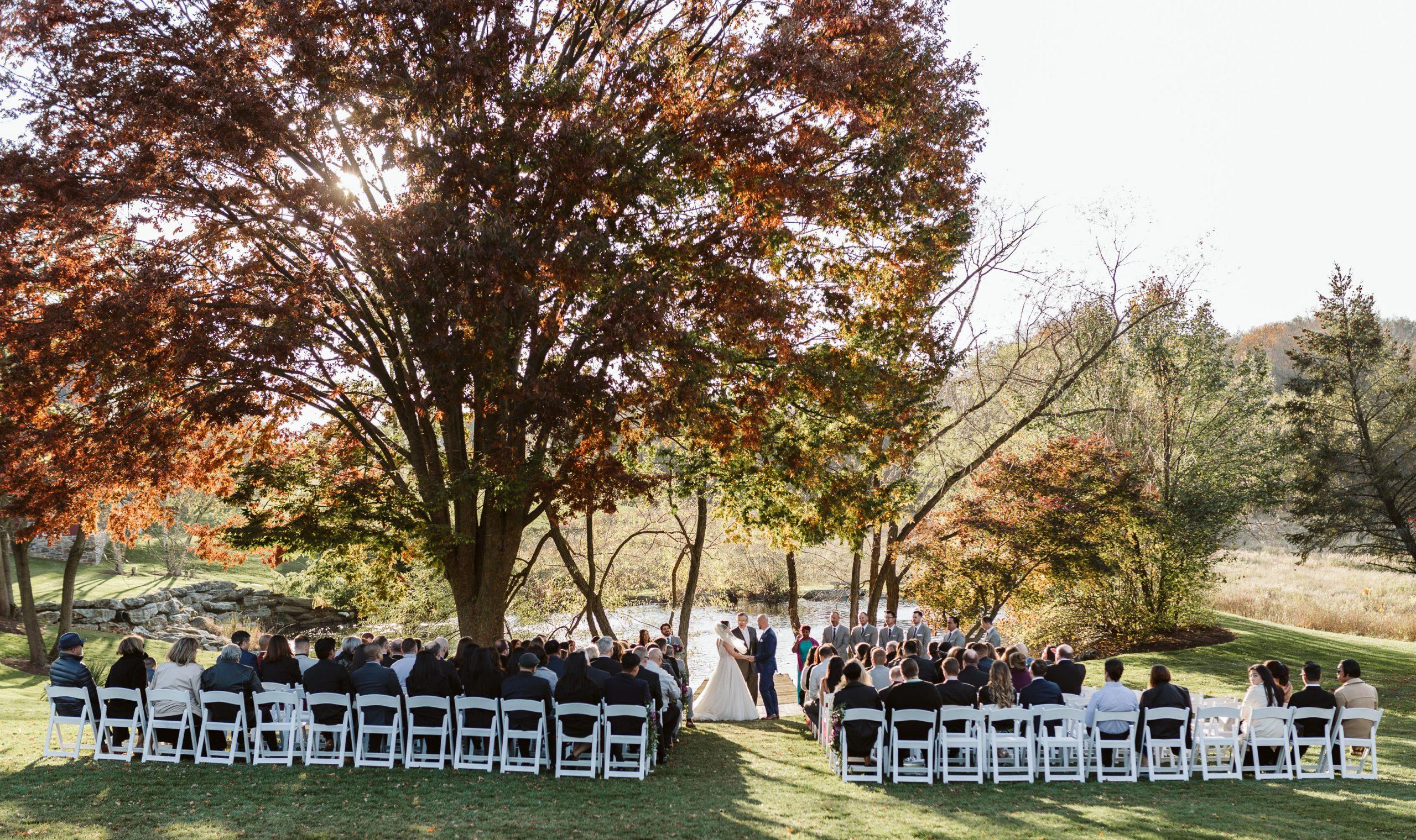 farm at eagle's ridge wedding ceremony pennsylvania wedding photographer