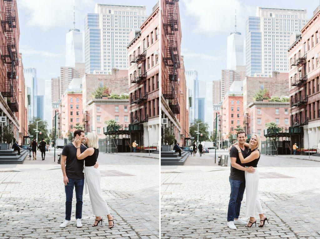tribeca engagement photos nyc