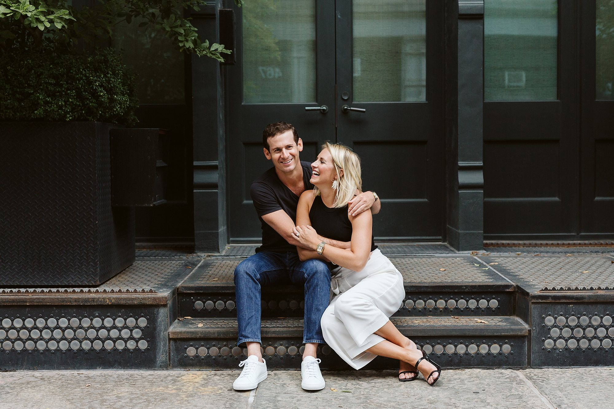 tribeca engagement photos nyc