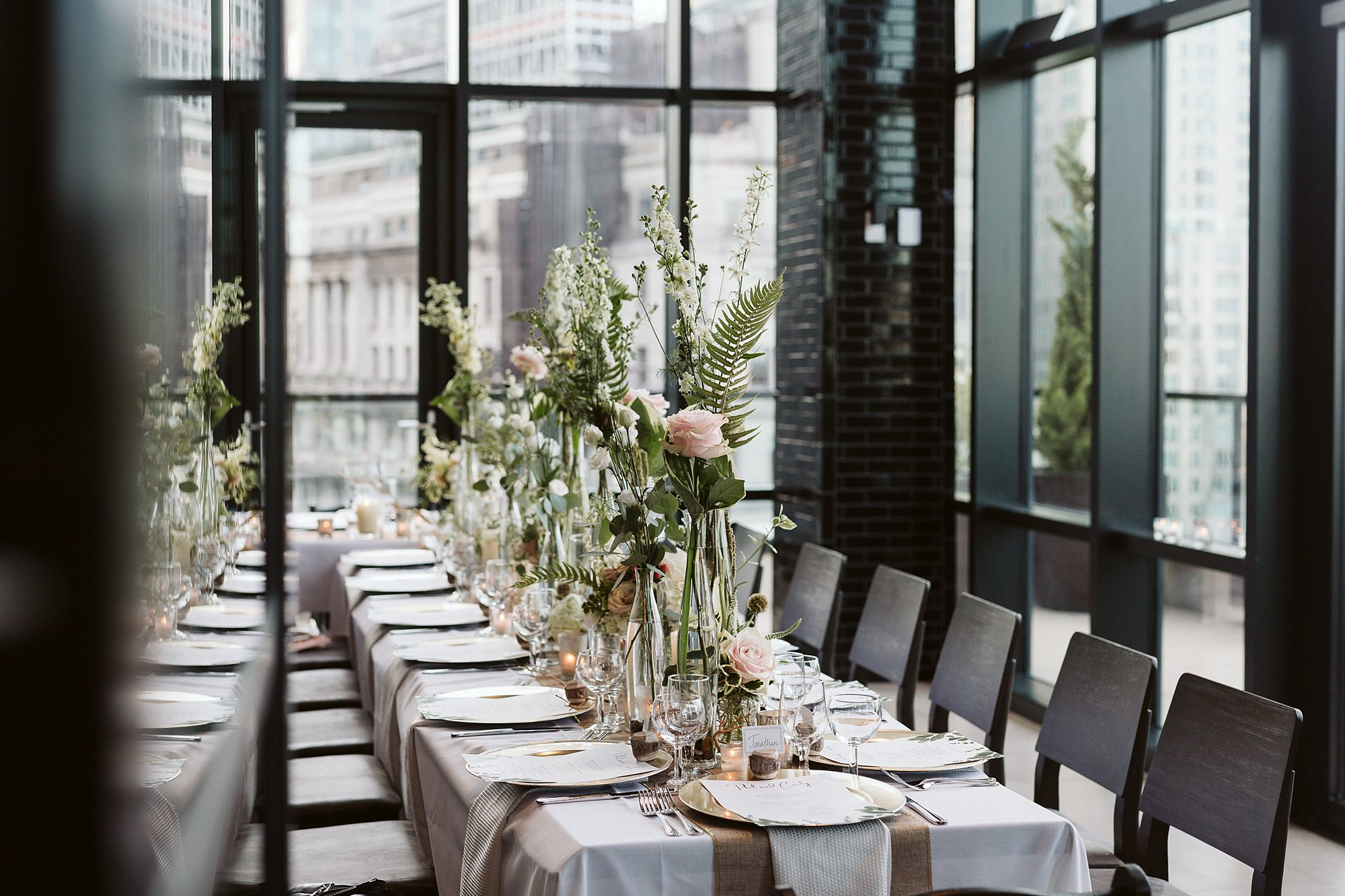 downtown manhattan intimate wedding dinner photos by NYC elopement photographer Sarah Sayeed