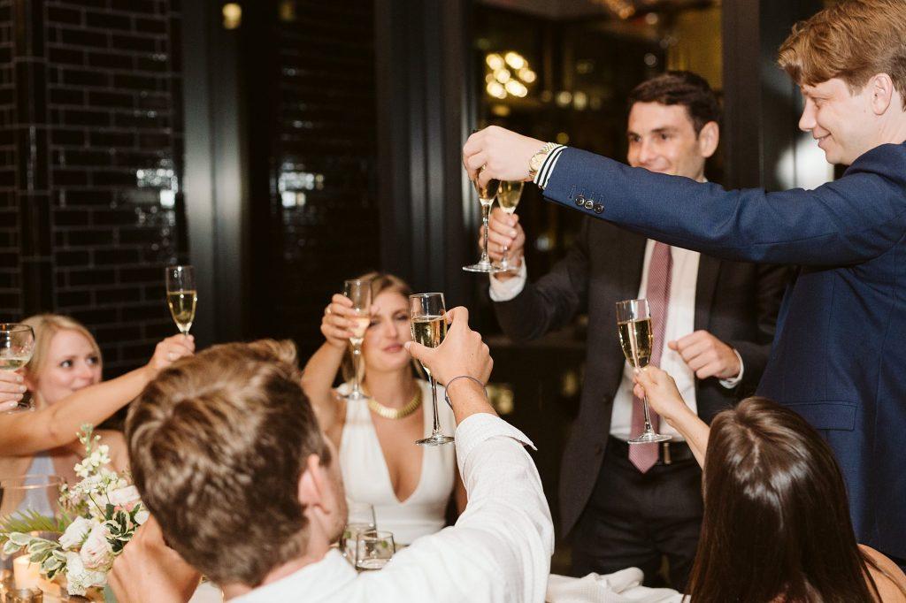 downtown manhattan intimate wedding dinner photos by NYC elopement photographer Sarah Sayeed