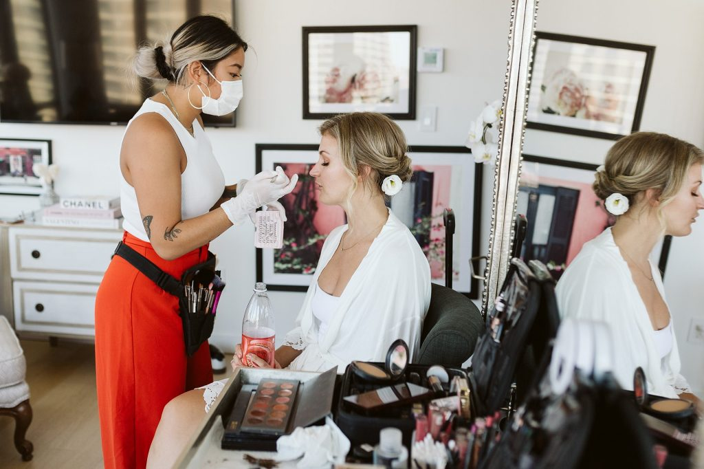 intimate manhattan wedding bride getting ready in downtown apartment NYC elopement photographer Sarah Sayeed