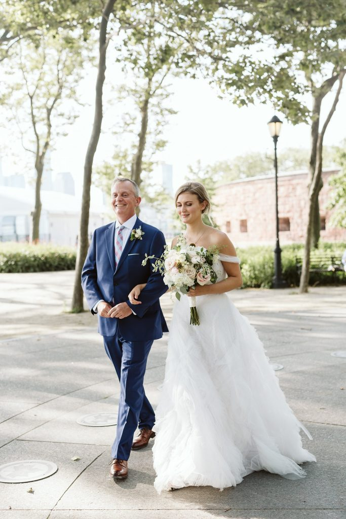 battery park small wedding ceremony by NYC elopement photographer Sarah Sayeed