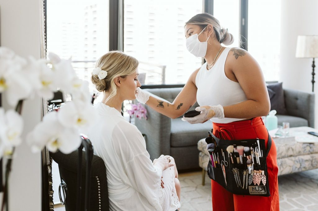 manhattan intimate wedding bride getting ready photo by NYC elopement photographer Sarah Sayeed