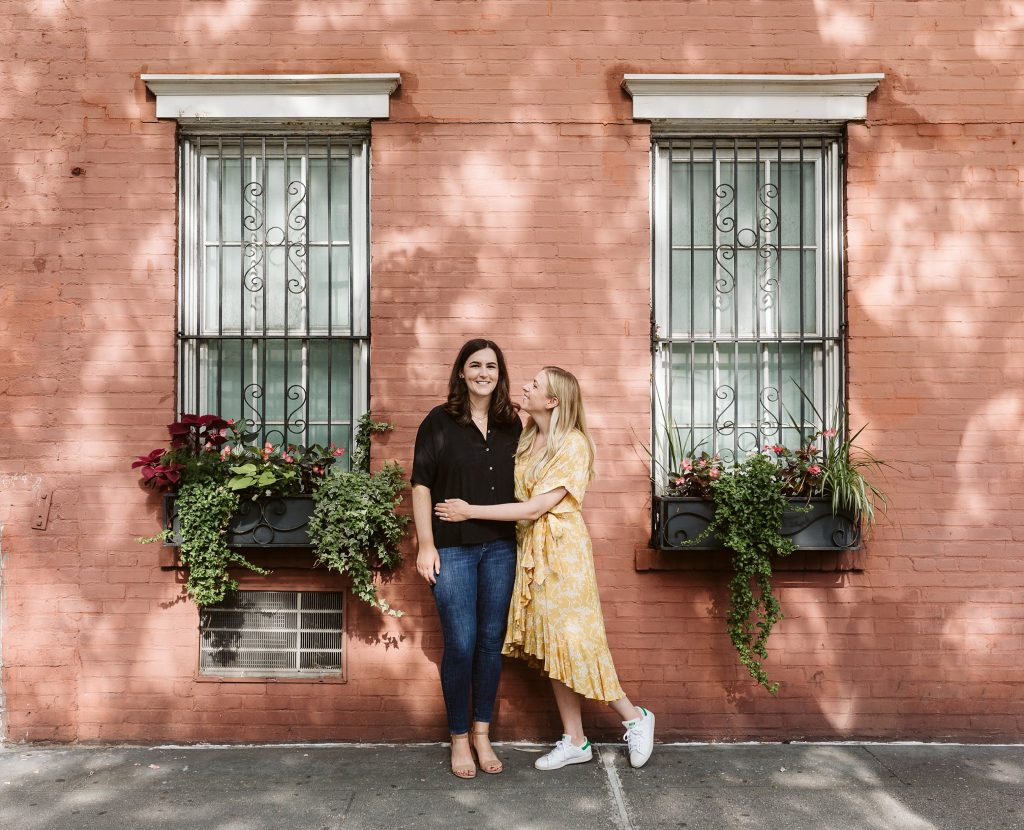 west village engagement session lesbian couple by NYC elopement photographer Sarah Sayeed