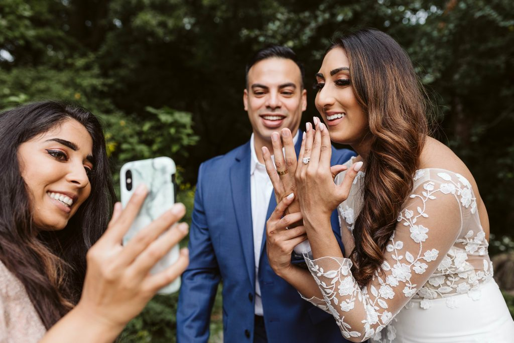 zoom central park elopement by NYC elopement photographer Sarah Sayeed