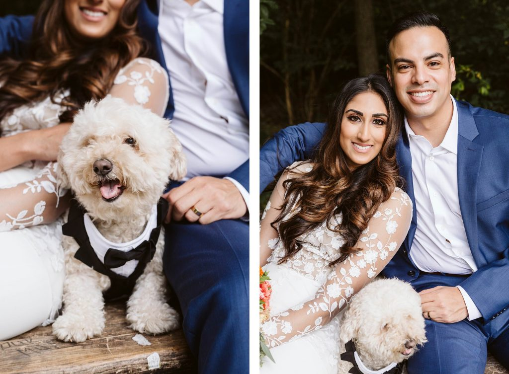 dog best man central park elopement by NYC elopement photographer Sarah Sayeed