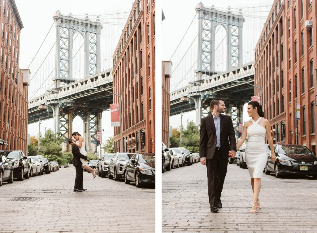 dumbo brooklyn engagement photos by NYC elopement photographer Sarah Sayeed