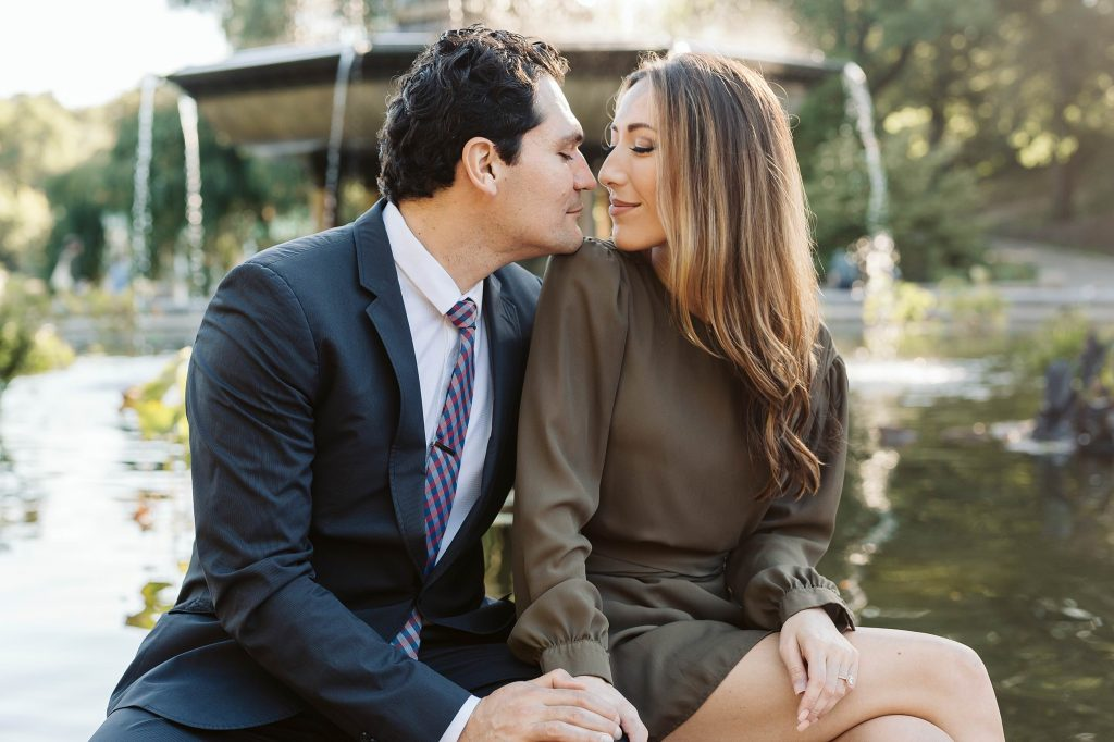 bethesda terrace central park engagement photos by NYC elopement photographer Sarah Sayeed