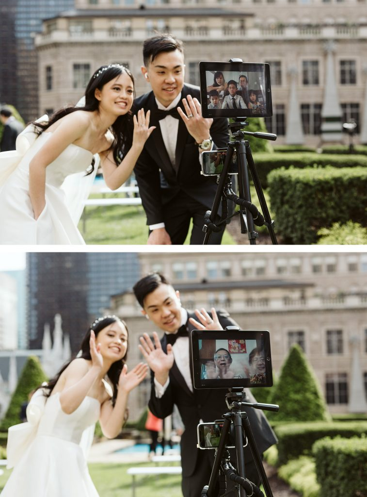 620 loft and garden zoom ceremony elopement nyc rooftop by NYC elopement photographer Sarah Sayeed