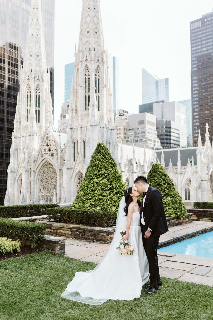 620 loft and garden elopement nyc rooftop by NYC elopement photographer Sarah Sayeed