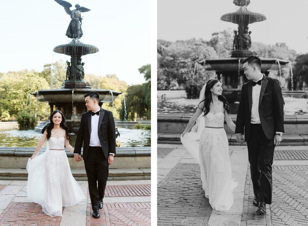 bethesda fountain elopement photos by NYC elopement photographer Sarah Sayeed