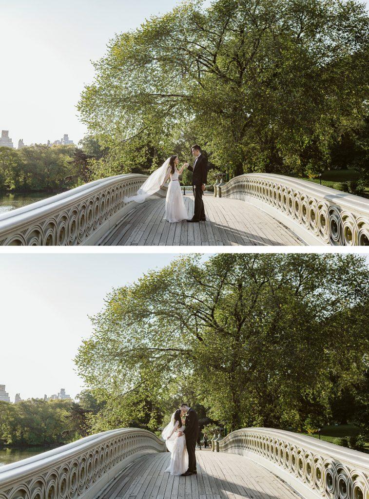 bethesda terrace elopement photos by NYC elopement photographer Sarah Sayeed